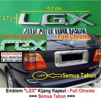 emblem tulisan logo lgx full chrome toyota kijang kapsul dll universal
