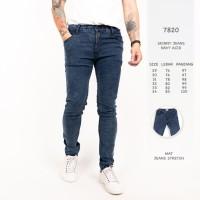 Celana Jeans Pria Navy Acid / Celana Panjang Premium