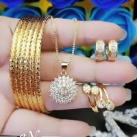 xuping set perhiasan lapis emas 24k 18o3