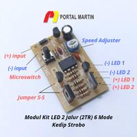 Modul LED Flasher M2 Strobo (6 Mode Kedip)