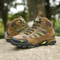 Sepatu Gunung SNTA 493 Original - Sepatu Olahraga Outdoor Hiking Shoes - BrownGreen