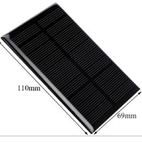 Modul solar cell solar panel surya 1.1W 5V 110x69mm powerbank DIY