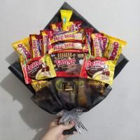Snack Bouquet / Bucket Buket Bunga Snack Jajan / Hadiah Wisuda