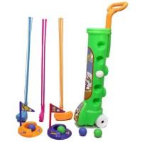 Mainan Golf Set Olahraga Outdoor Anak Edukasi 4 Stik 5 Bola Play Set