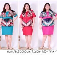 Dress Batik Kerja Jumbo size / Dress Batik Bigsize