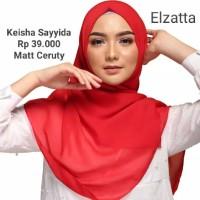 Hijab Jilbab Segi Empat Polos KEISHA SAYYIDA ELZATTA