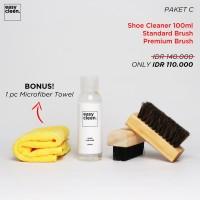 Shoe Cleaner 100ml + Premium Brush & Standard Brush   Pembersih Sepatu