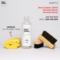 Shoe Cleaner 250ml + Premium Brush & Standard Brush   Pembersih Sepatu