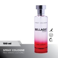 Bellagio Spray Cologne Rave Culture (Red, 100ml)