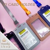ID CARD HOLDER KULIT SINTETIS/ NAME TAG /CARD HOLDER / GANTUNGAN NAMA