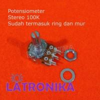 Potensiometer Stereo 100K Potensio 100 K Potentiometer Variable B100K