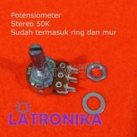 Potensiometer 50K Stereo Potensio 50 K Potentiometer Variable Resistor