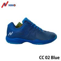 NIMO Sepatu Badminton Court Champ 02 Blue ukuran 38 sampai 45