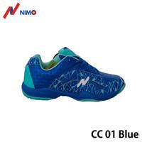 NIMO Sepatu Badminton Court Champ 01 Blue size 38 sampai 45