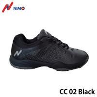 NIMO Sepatu Badminton Court Champ 02 Black size 38 sampai 45