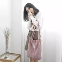 Tote Bag Korea - Tas Import Kanvas Shoulder