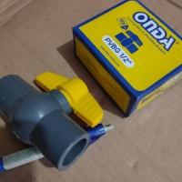 stop kran pvc / ball valve 1/2 inch onda