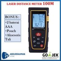 Meteran Laser Distance Meter 100 M Alat Ukur Jarak 100M Digital