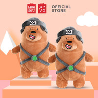 Miniso Offical We bare bears standing plush toy boneka anak