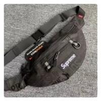 Tas Waistbag Supreme SS19 - Tas Supreme Pria Hitam / Waist bag Pria
