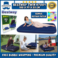 Bestway Kasur Angin [188cm x 99cm] Twin Biru - Air Bed Twin 67001