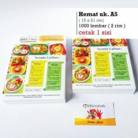 Best Seller Cetak Brosur Ukuran A5 1.000 Lembar Termurah
