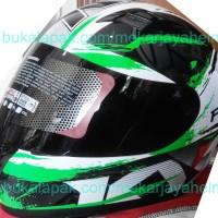 RTZ14744 HELM KYT R10 SERI 2 WHITE BLACK GREEN FLUO READY