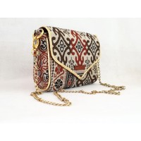 Tan Tria handmade sling bag