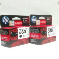 Tinta Printer HP 680 Black & Color 1 set ORIGINAL GARANSI RESMI