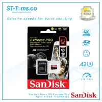 Sandisk Micro SD Extreme Pro SDXC 512GB6 170/90Mbps SDSQXCZ-512G-GN6MA