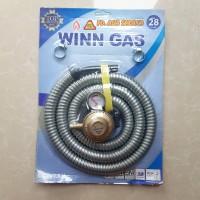 Paket Regulator dan Selang Winn Gas SNI Type 28 / Selang Kompor Gas