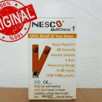 Strip Nesco Multichek Asam urat isi 25 test Uric Acid