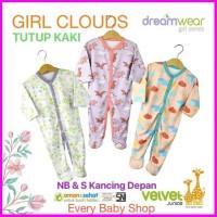 TUTUP KAKI VELVET JUNIOR DREAMWEAR SLEEPSUIT PIYAMA 3 BAYI PCS