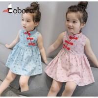 Terbaru BOBORA Cheongsam Dress Kids Chinese Year Floral Baby Girl
