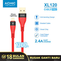 ACMIC XL120 Kabel Data Charger iPhone Lightning Fast Charging Cable FS