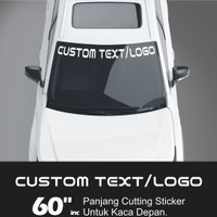 STICKER MOBIL EMBLEM KACA DEPAN | CUSTOM TEXT/LOGO | ORACAL