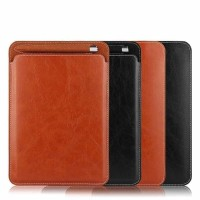 IPAD AIR 2 IPAD 6 Pouch Leather Sleeve Case Cover with slot pen sarung