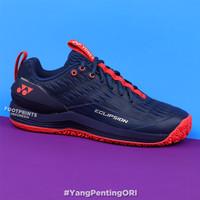 Sepatu Tenis Yonex Power Cushion Eclipsion 3 Navy Red Tennis Shoes