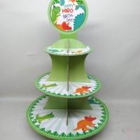 cupcake stand dino / cupcake tier dino / cupcake stand custom