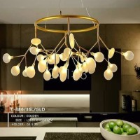 Lampu gantung kaca tiup cabang 36 Inflatable glass wine pendant lights