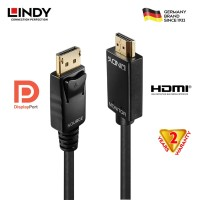 LINDY #41704 DisplayPort/HDMI Adapter Cable, 5m