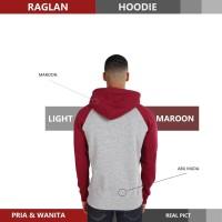 Sweater Hoodie Raglan Reglan Unisex LIGHT MAROON M - XXXL