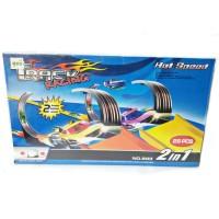 Mainan track racing halilintar 2 jalur / track mobilan hot wheel