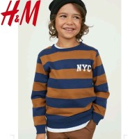 H&M NYC BROWN SWEATER/SWEATER ANAK/SWEATER ANAK COWOK/SWEATER ANAK