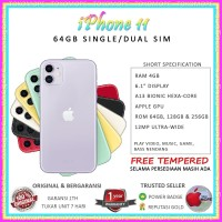 iPhone 11 64GB 64 GB Dual Sim Nano & Nano Esim