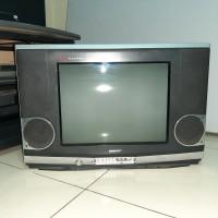 TV tabung Flat merk Sharp 21 inch Great Alexander. cek video aslinya