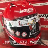 Helm Nolan N87 Emblema Ncom Corsa Red 75