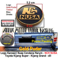 logo karoseri nch nusa bulat toyota kijang super grand dll gold pudar