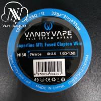Vandyvape N80 Superfine MTL Fused Clapton 32GA*2+38GA - Roll