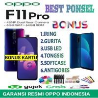 OPPO F11 PRO RAM 6GB ROM 64GB GARANSI RESMI OPPO INDONESIA 1 TAHUN